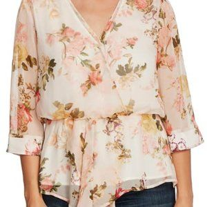 """Vince Camuto NEW """"cameo cream"""" top floral BNWT"""